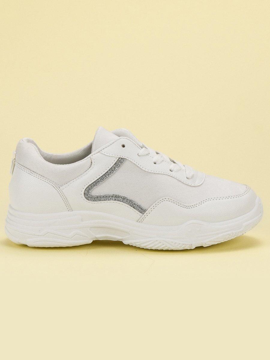 f72adc2ec9d20 Dámske biele tenisky s platformou GL813W