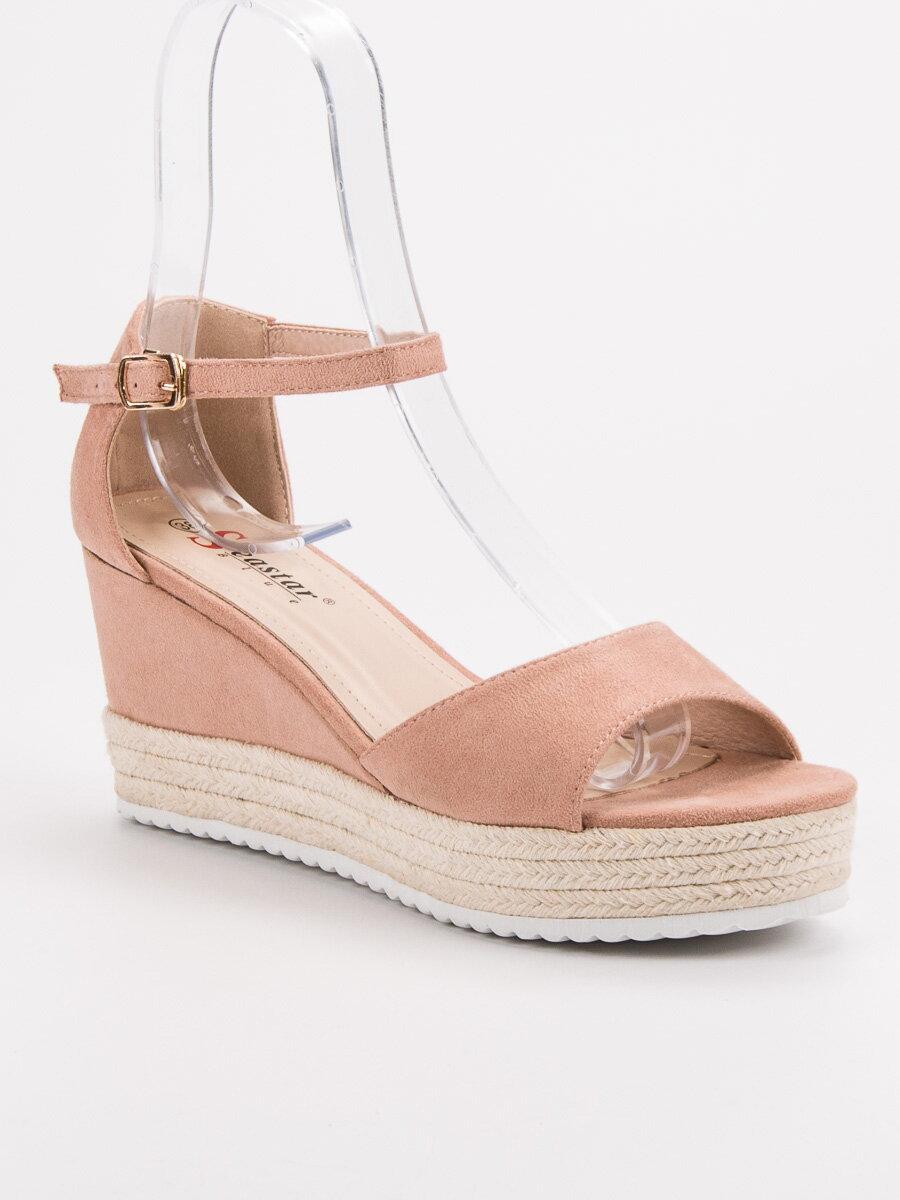 dd39b27c38299 Ružové sandále na platforme GG-59P