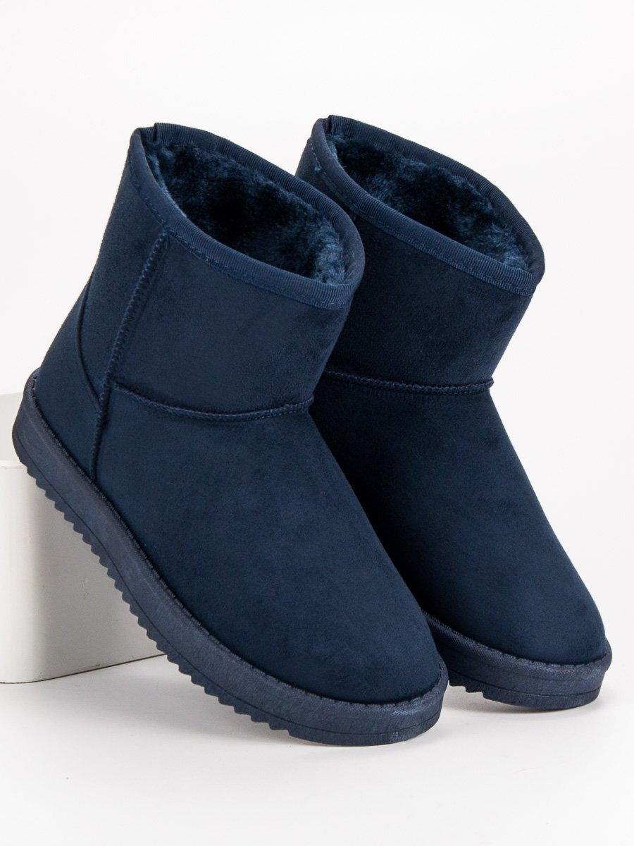 bafd3f728cff Modré dámske snehule na zimu 7602BL