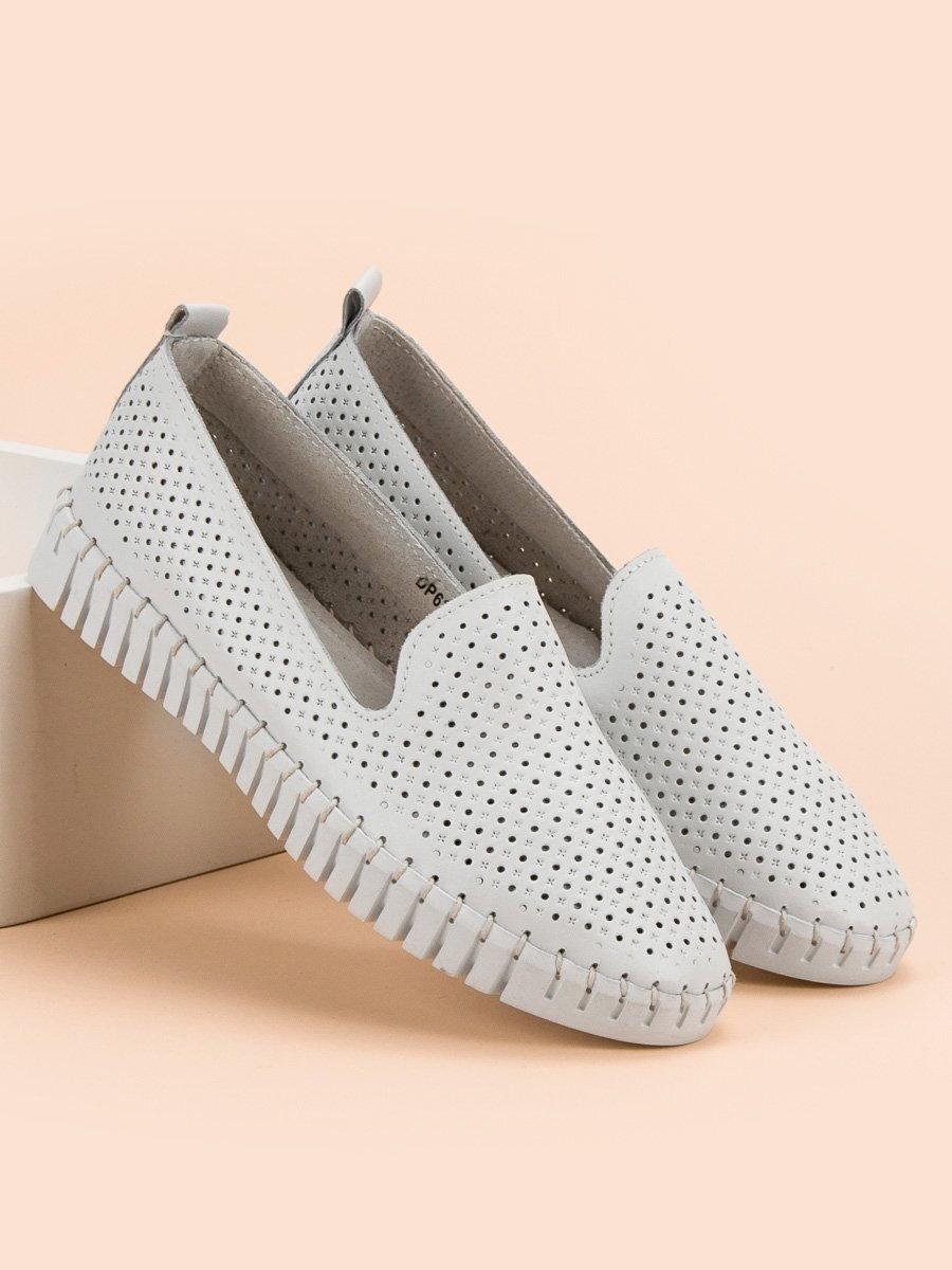 6c1a09ed8b22 Biele kožené topánky dámske DP638 19W