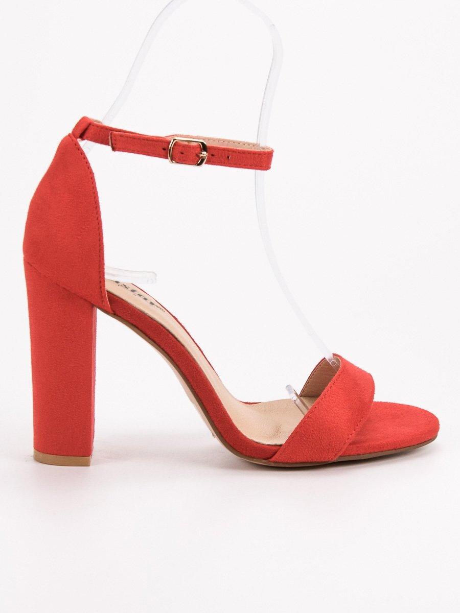 45e44a2bf1 Elegantné červené dámske sandále NC795R
