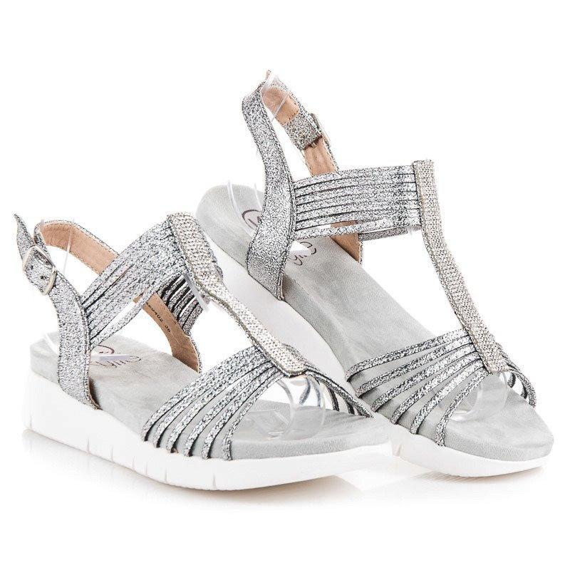 823b3cbaf5e0 Nízke sandále s kamienkami K1820402PL
