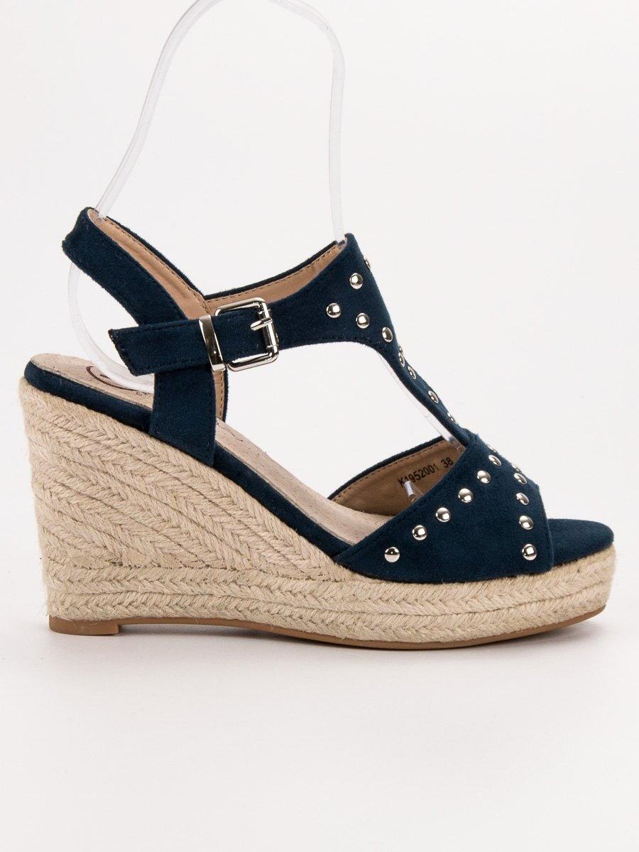 4e9ff3bca1 Modré sandále na platforme ESTEL K1952001MA
