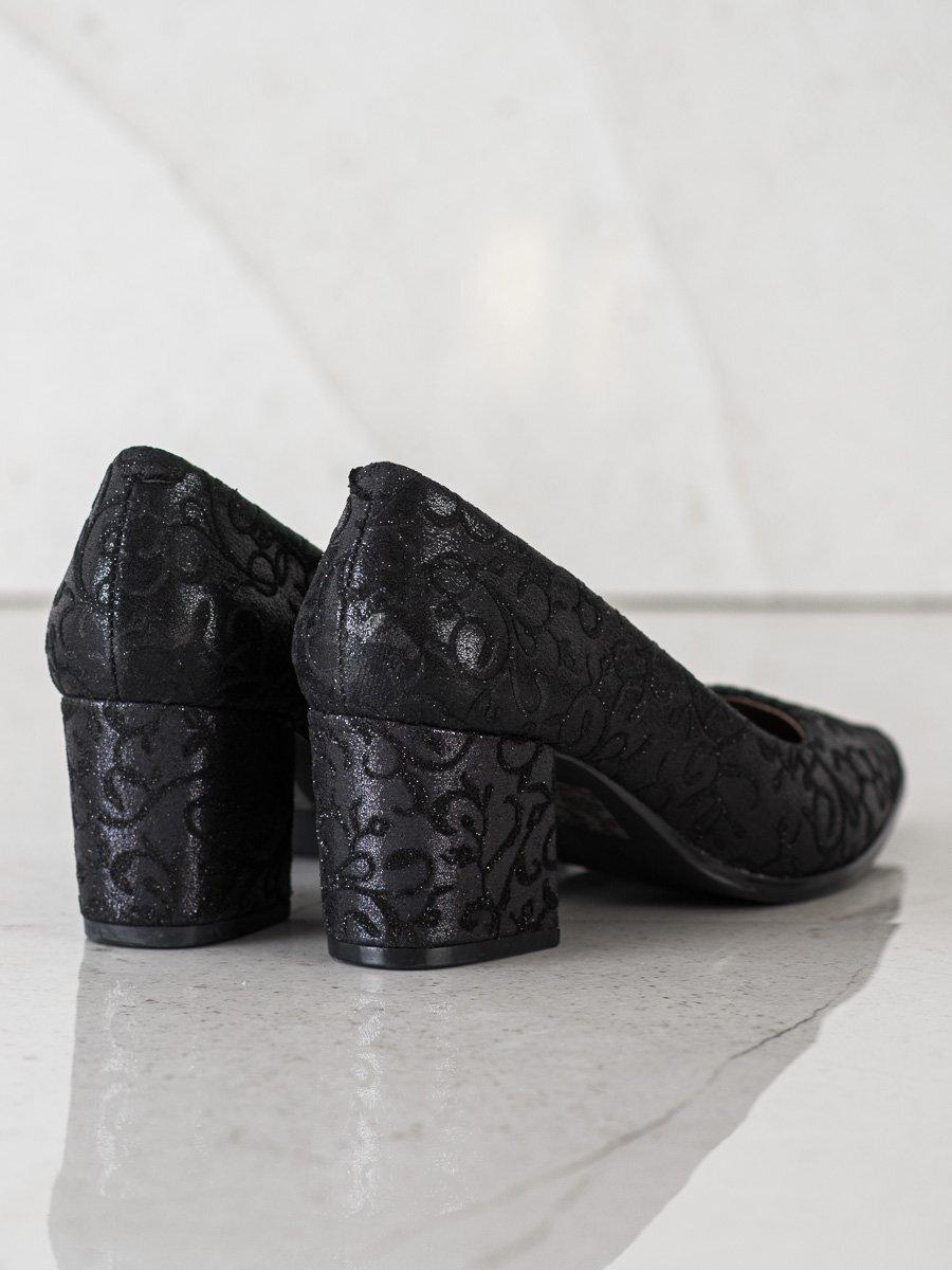 43a340b29eff Elegantné nízke čierne lodičky