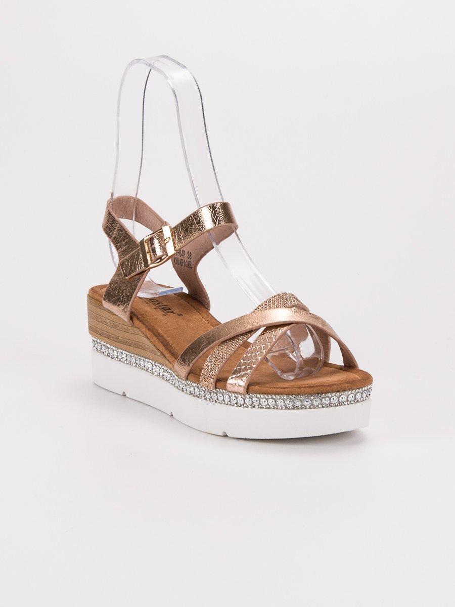 fc8ca486b929 Medené sandále s kamienkami GG-64CH. PrevNext