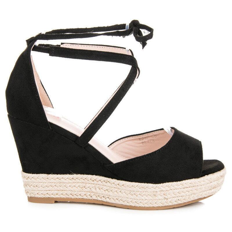 527bddb8a4d6 Vysoké čierne sandále