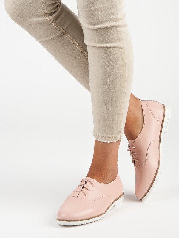 781fcdcc70d1 Dámske ružové kožené topánky MAZARO 2191-20P