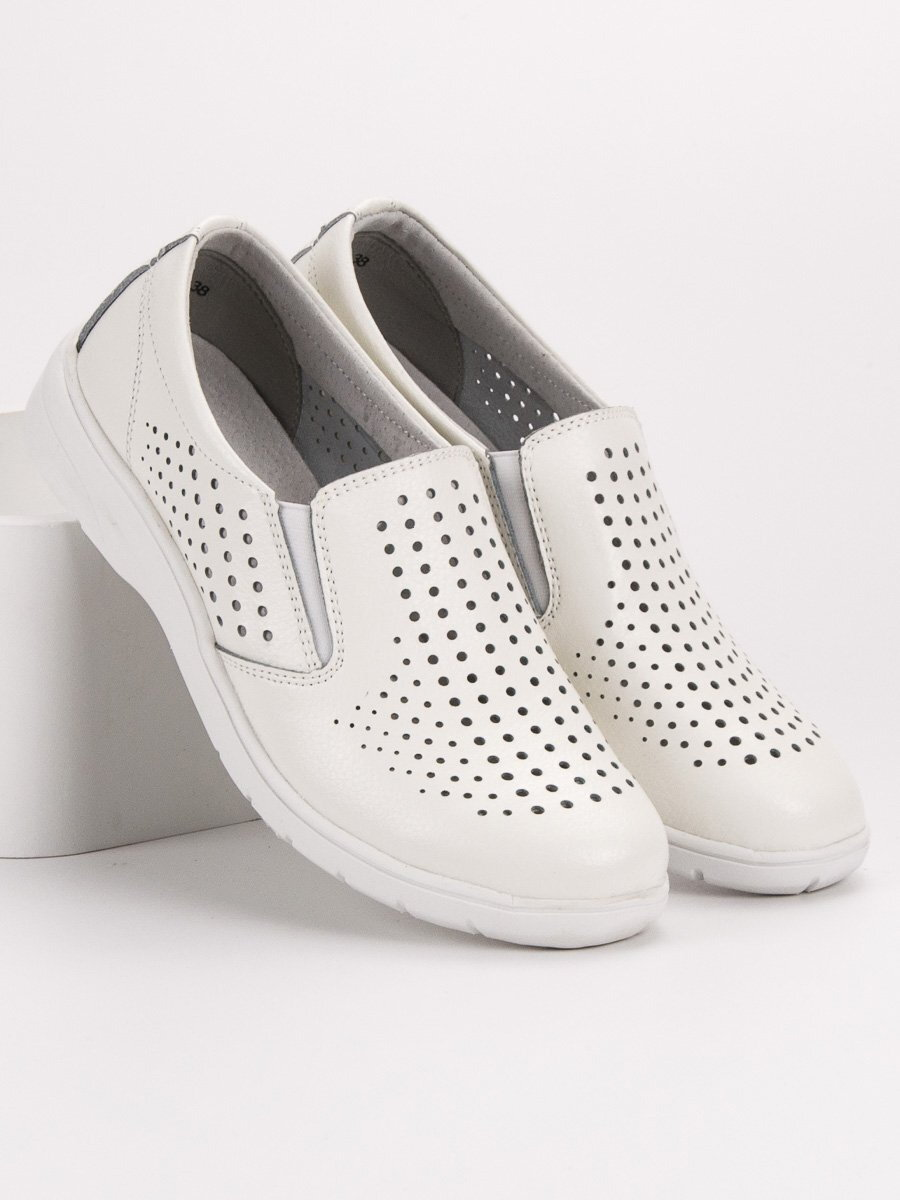 a02ee553b2 Biele dámske kožené topánky K1913401BLA