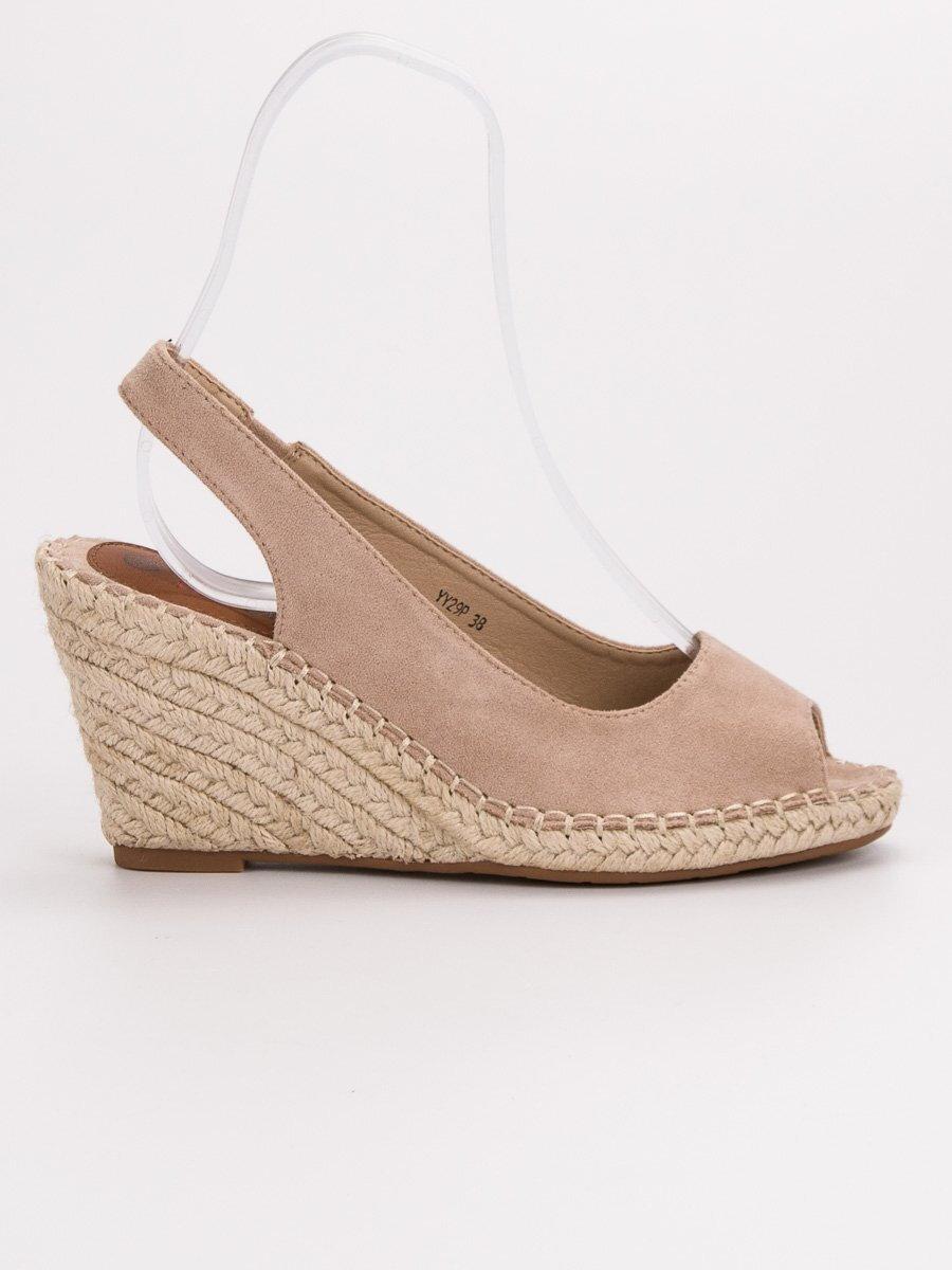 9bffab5a3e18 Béžové sandále espadrilky STAR YY29BE