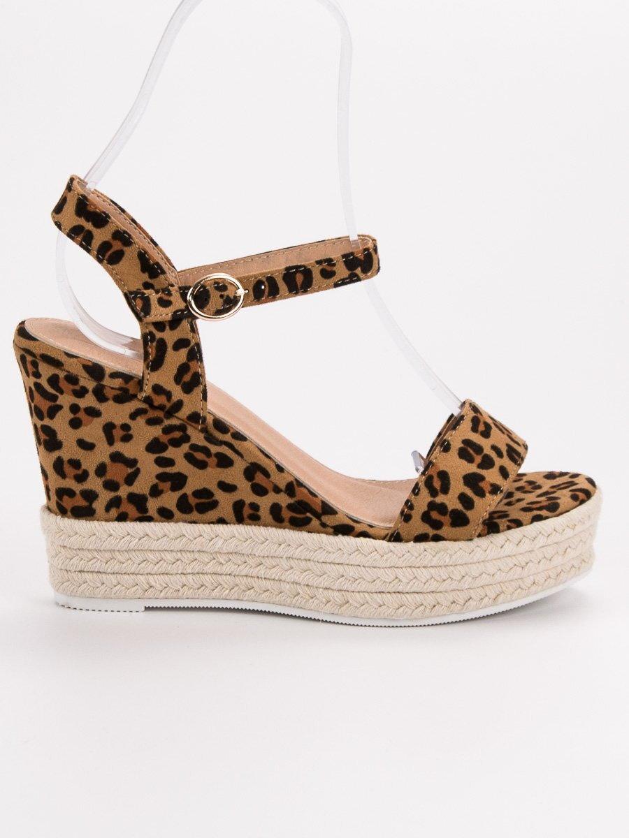 a0abc26933d4 Vysoké leopardie sandále ESPADRO JS-2952LEO
