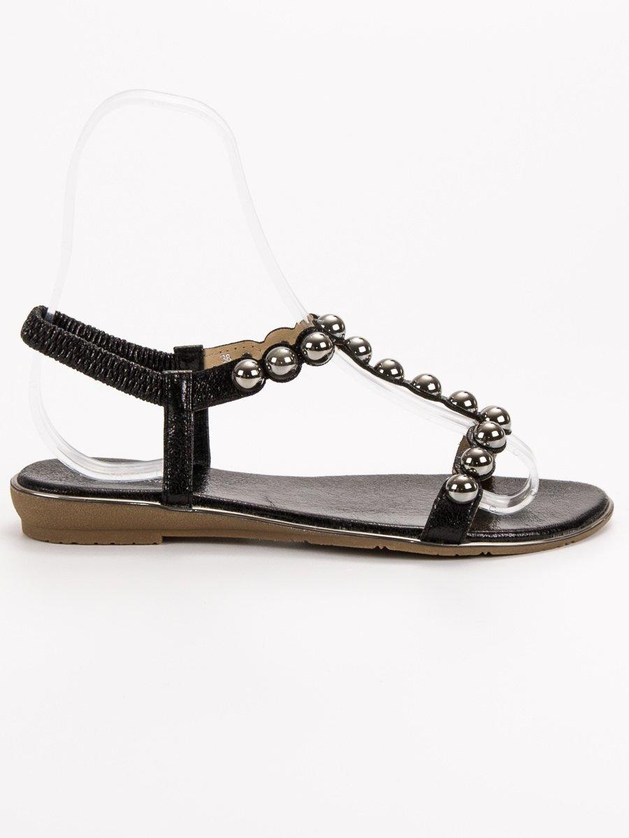 77516eb4fe02 Čierne sandále dámske PERLA SJ01B