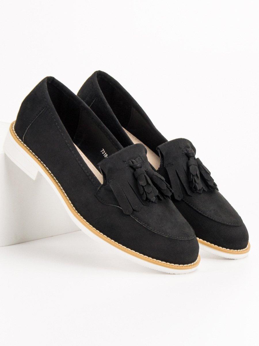 6b747bc8e0 Dámske čierne topánky na jar 7318-1B