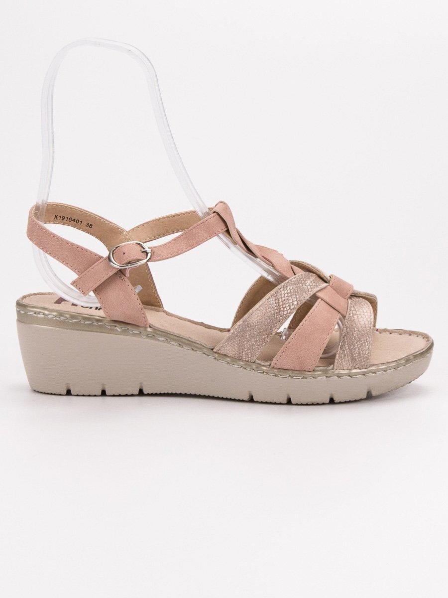 2752b0a0f6 Dámske ružové sandále CAROL K1916401NU