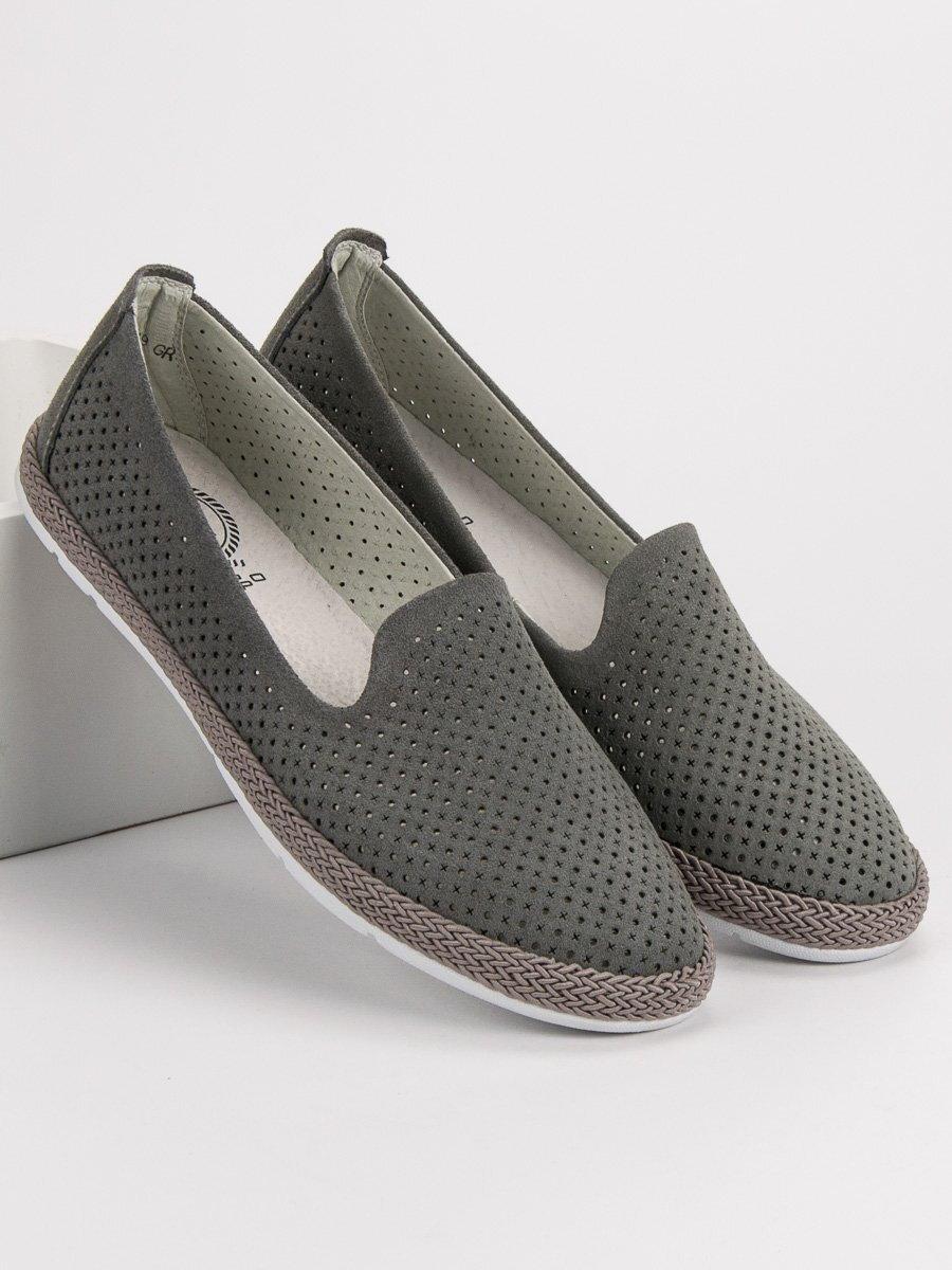 d9784477d Dámske kožené topánky na jar DP081/19G