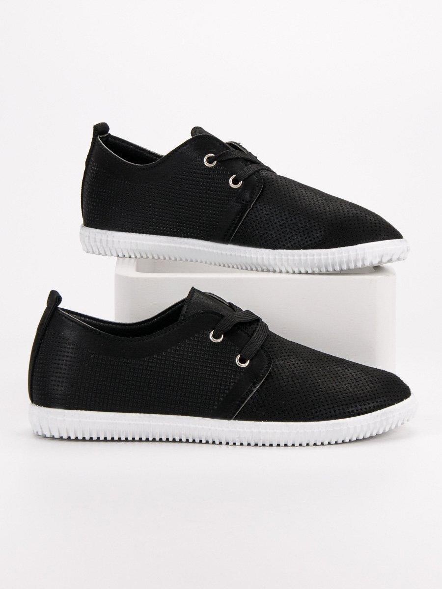 002903bc3704b Čierne dámske topánky na jar MODE 9736B