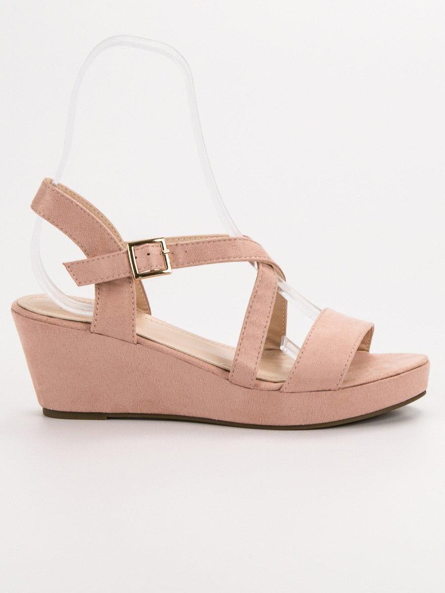 5931e6c541 Ružové sandále na platforme K-3P