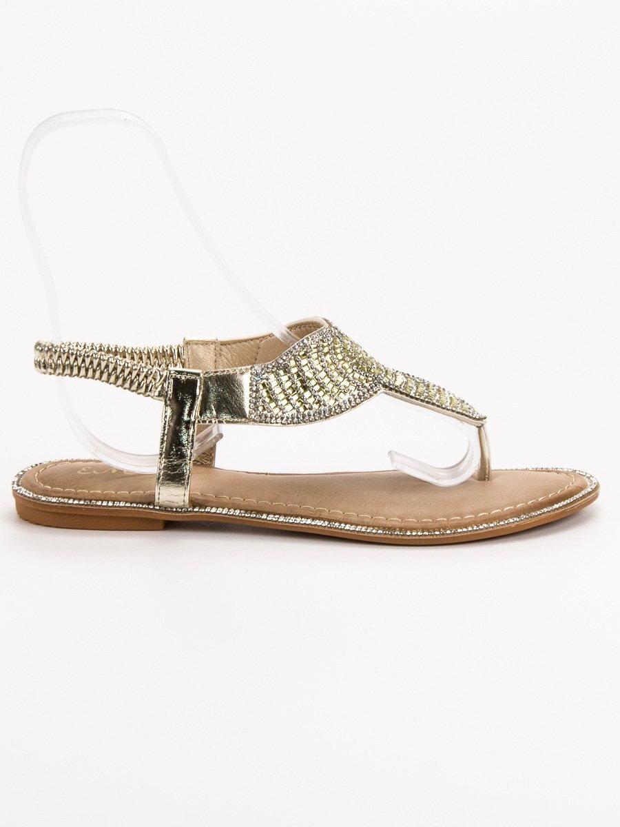 788b1e1a51d9 Elegantné zlaté sandále CLEOPATRA B013GO