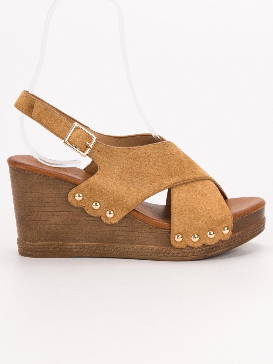 0773012632502 Semišové platformové sandále SHELOVET D127C