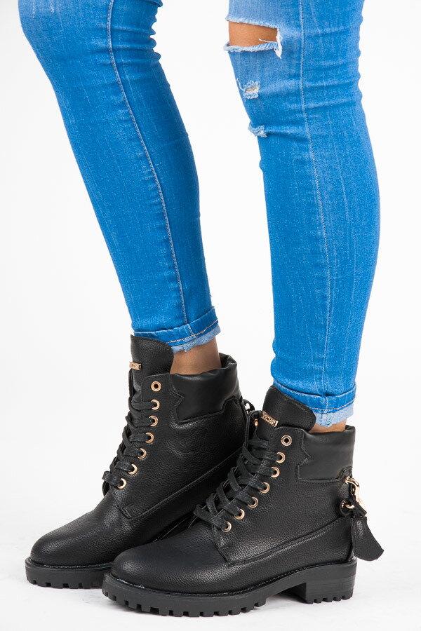 fa44fbe260 Kotníkové topánky na šnurovanie 1302-1B