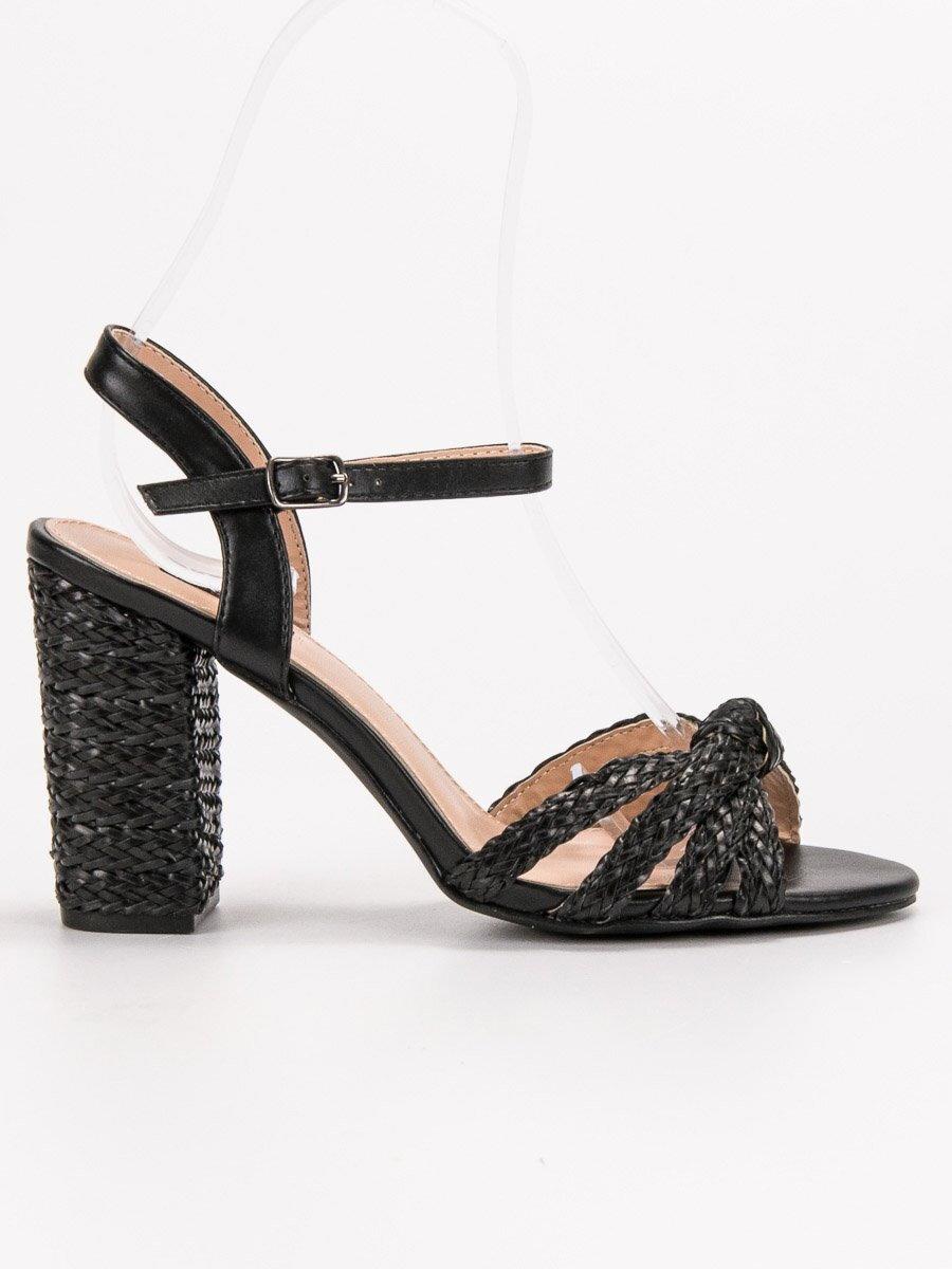 c97c1bf231631 Elegantné čierne sandále VICES 9257-1B