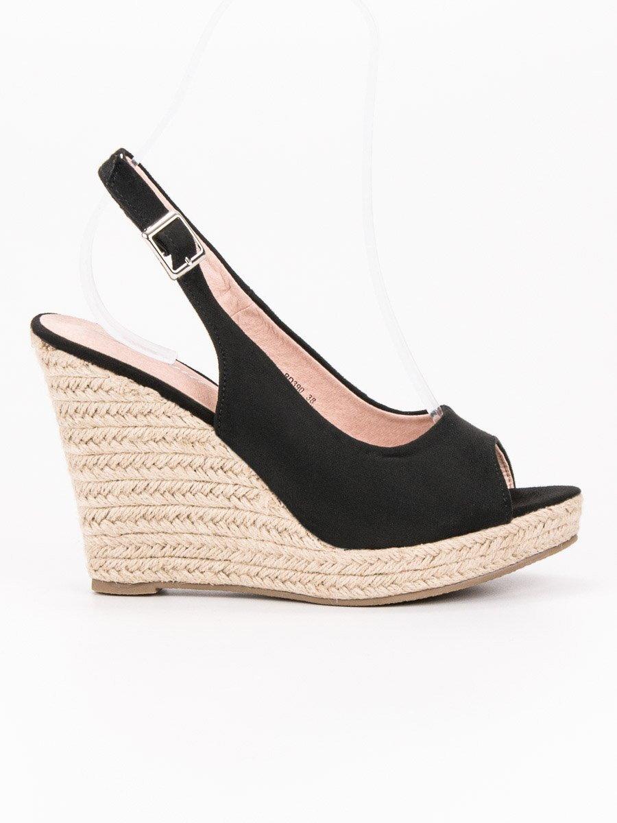 c2df4268ab Vysoké čierne sandále RENDA BD390B